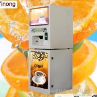 意浓冷热型奶茶机 影院自助投币咖啡饮料机投币咖啡机