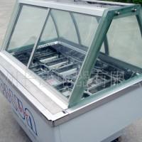 弧形玻璃风冷冰粥保鲜展示柜