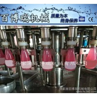 百博瑞机械冲洗果肉灌装果汁灌装封口四合一 液体灌装设备