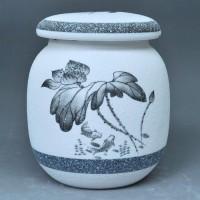雪花釉陶瓷茶叶罐/密封罐/储物罐/珍珠釉醒茶罐/茶叶盒