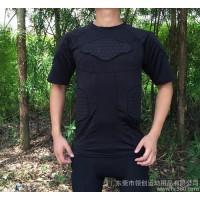 蜂窝篮球防撞短袖T恤海绵护具篮球足球运动防撞运动紧身衣速干