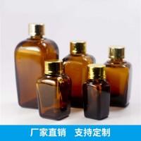 生产批发100ML方形茶色精油瓶 玻璃包装容器 普料玻璃精油甁 玻璃瓶