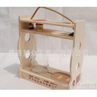 曹县产地货源专业定制红酒外包装 **木制酒提 双支白酒酒提