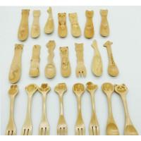 木勺 卡通宝宝勺 可爱创意动物木勺子 冰淇淋勺小饭勺 实木质餐具