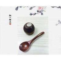 日韩老漆小木勺定制 儿童饭勺冰淇淋勺环保健康餐具16cm