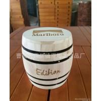 万宝裸烟小木桶 烟桶 烟罐 定做木质咖啡桶 烟盒定做
