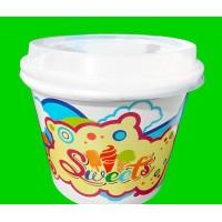 绿思源 一次性纸碗 16盎司冰淇淋碗  涂布加厚 新款 双皮奶碗 酸奶杯 布丁碗 1000只装 **批发
